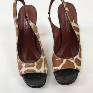 Donald J. Pliner Shoes - Donald J. Pliner Calf Hair Canna Slingback Heels